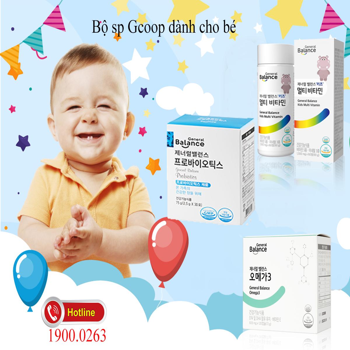Combo sản phẩm Gcoop chăm sóc sức khỏe cho bé
